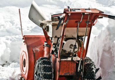 snow blower in snow